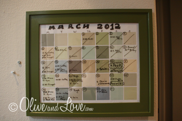 how to make a paint chip calendar