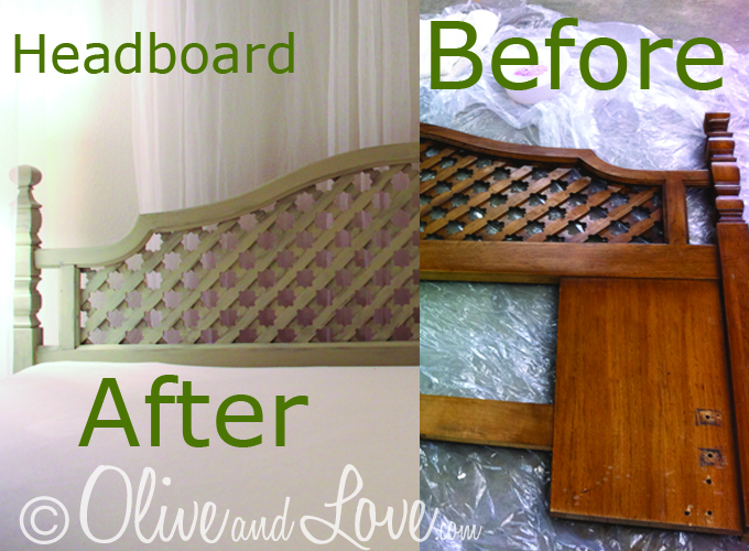 thrift store bed before and after