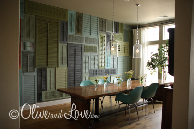 olive and love shutter wall