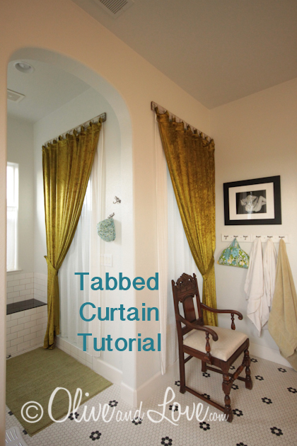 Tabbed curtain tutorial