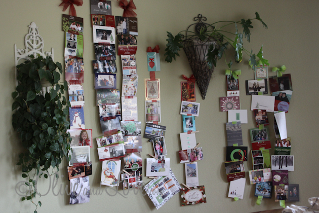 Holiday Christmas Card Display