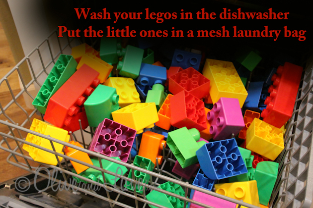 washing legos in the dishwasher