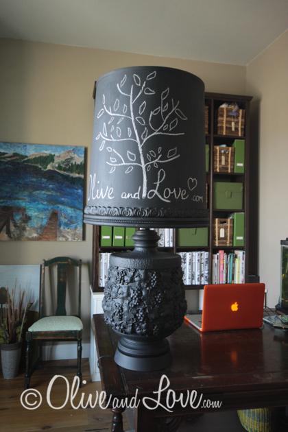 chalkboard lamp