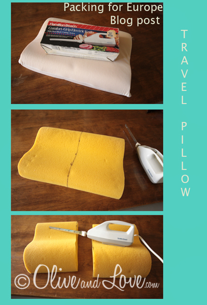 Travel pillow DIY europe paris barcelona