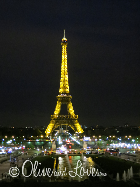 Eiffel tower at night girls trip to europe paris