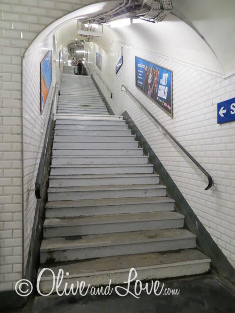 metro stairs paris girls trip to europe