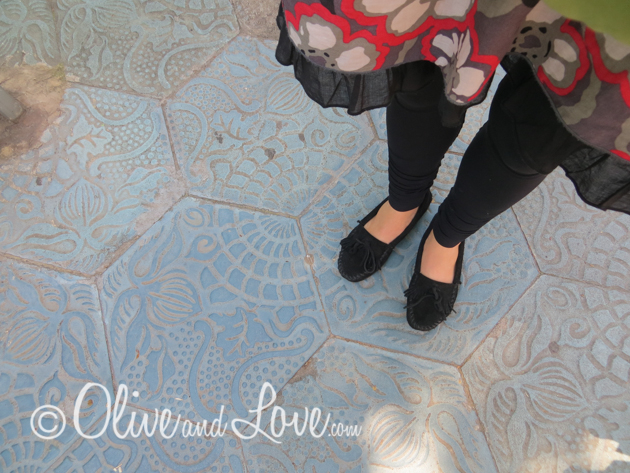 Gaudi floor tiles barcelona girls trip to europe