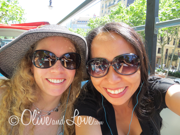 barcelona bus girls trip to europe