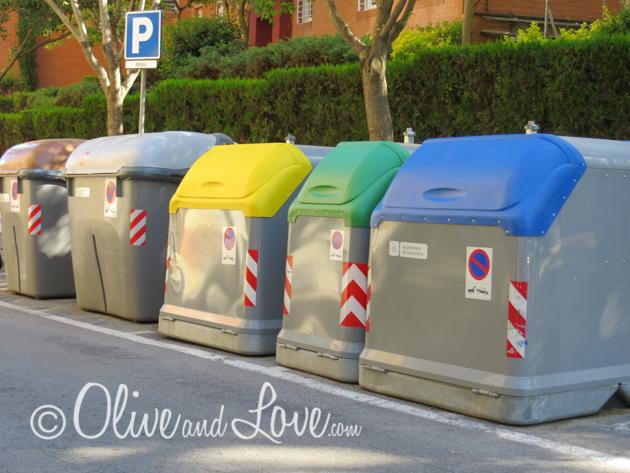 recycling barcelona spain girls trip to europe