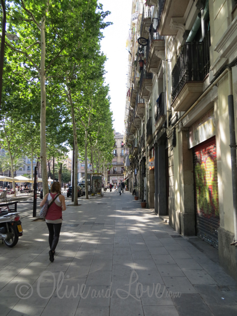 Walking the streets and alleys of Barcelona, we came across beautiful