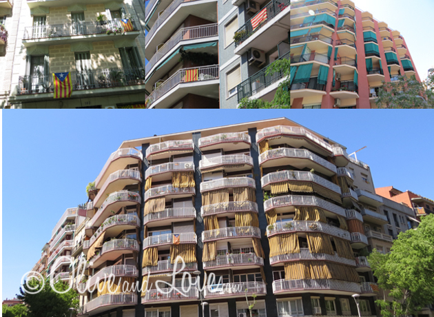 barcelona apartment curtains balcony girls trip to europe