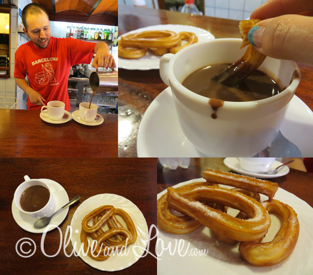 Churros y chocolate barcelona spain girls trip to europe