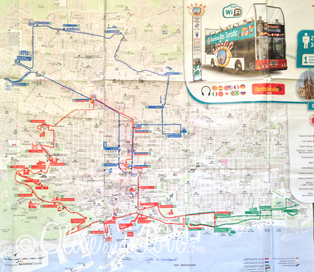 tourist bus route barcelona girls trip to europe