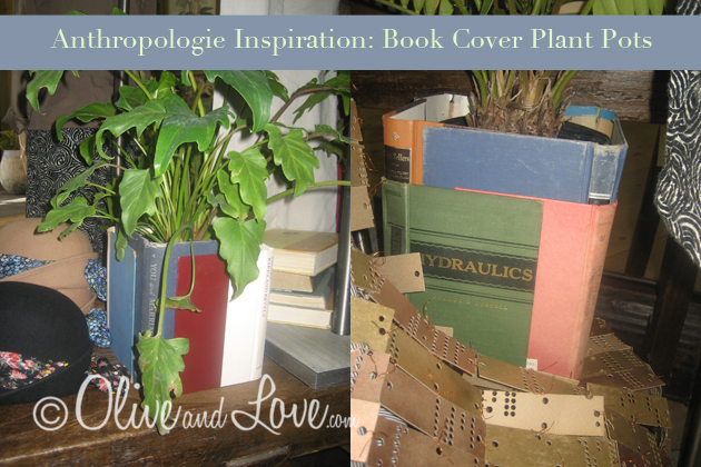 Anthropologie inspired book cover plant pots