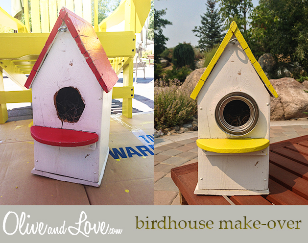 painting outdoor birdhouses