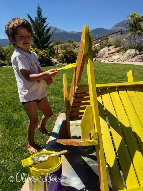 Painting Adirondack Chairs