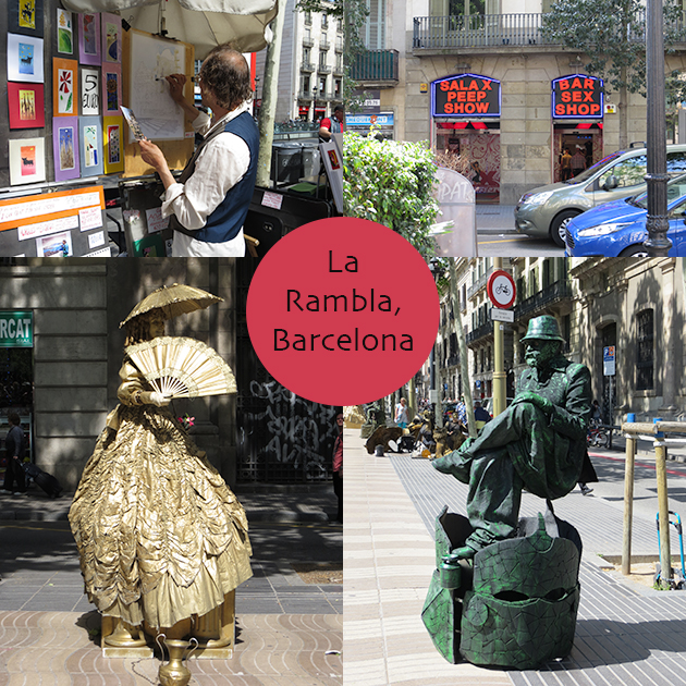 girls trip to europe la rambla  barcelona