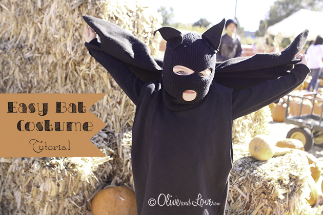 Bat Costume tutorial DIY Halloween