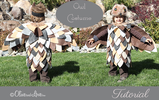 OWL Costume tutorial DIY Halloween