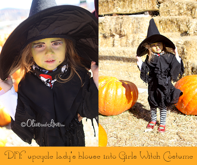 DIY Witch Costume Halloween girls kids