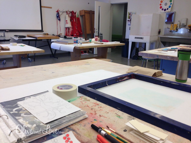 screen printing at NV museum of Art