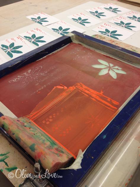 Screen printing class nevada art museum