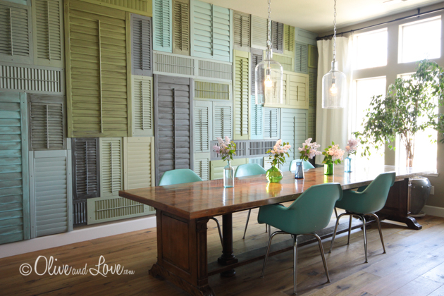 olive and love shutter wall country living elle