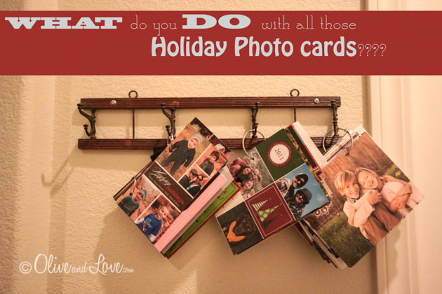 what to do with holiday photo cards display after christmas