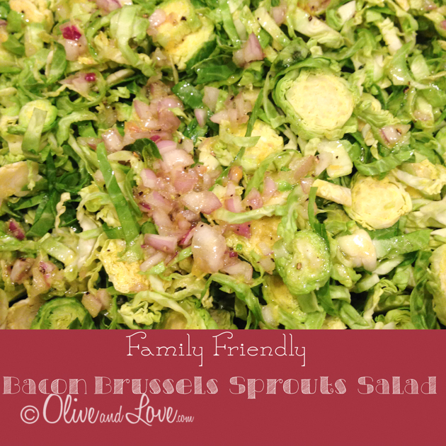 Bacon brussels sprouts salad family friendly