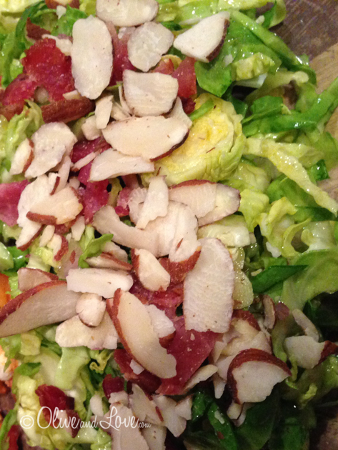 family friendly brussels sprouts salad with bacon