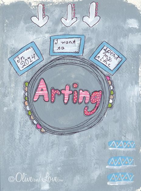 art journal entry