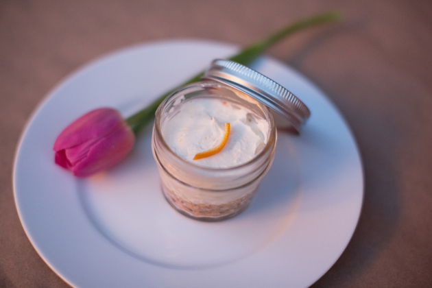 cheese cake in a jar