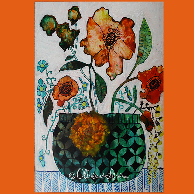 intuitive painting flowers and botanicals with zen tangles