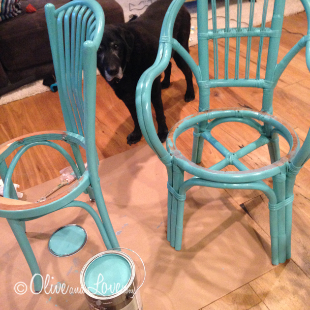 painting rattan chairs