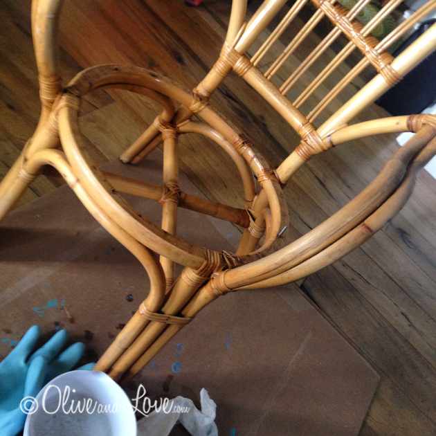 washing chairs before painting