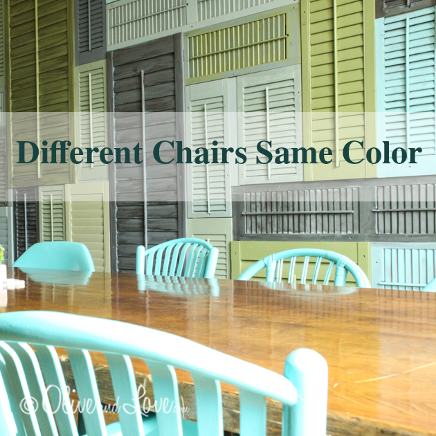different chairs same color