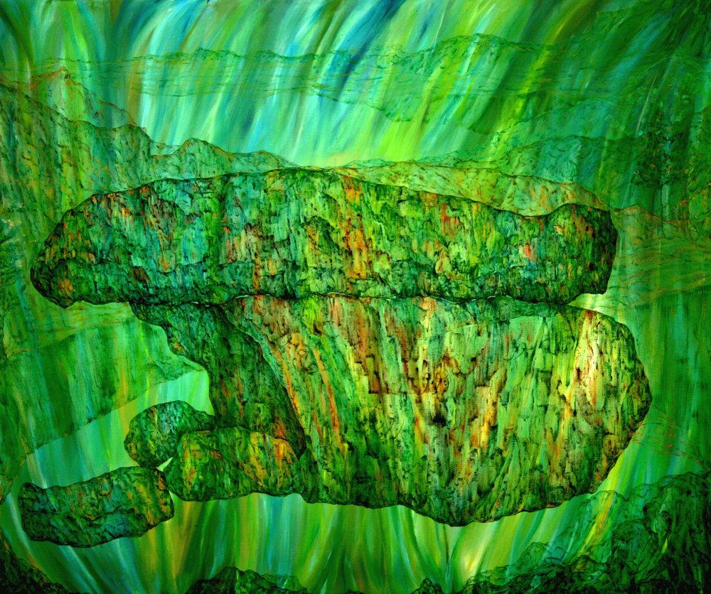 Oil & acrylic on canvas, W220 x H180 cm. 2008-2009