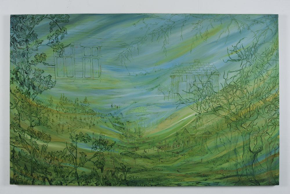 Ulvik. oil on canvas, W194 x H124 cm.2008