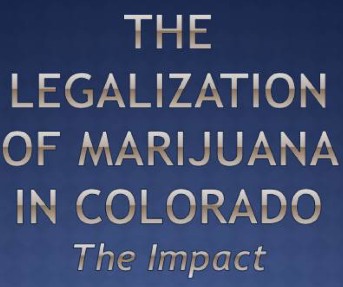 2014 findings about impact of marijuana legalization in Colorado -