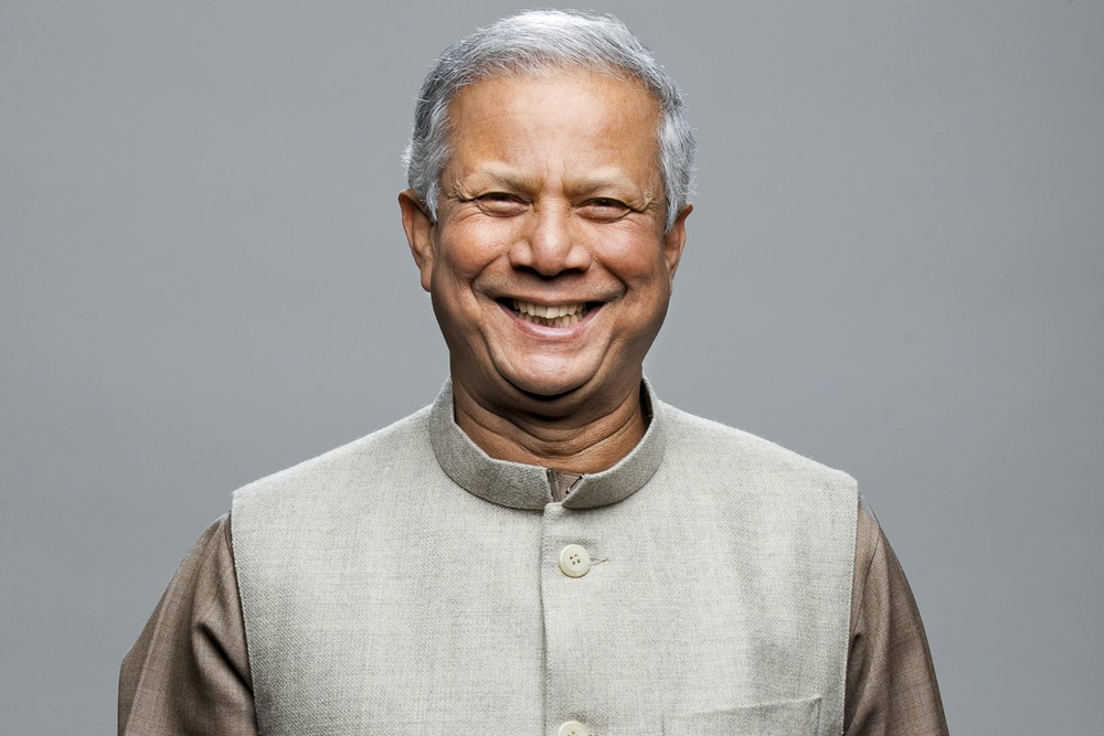 """""""A charity dollar has one life -a social business dollar can be invested over and over again"""" - Prof. Muhammad Yunus"""