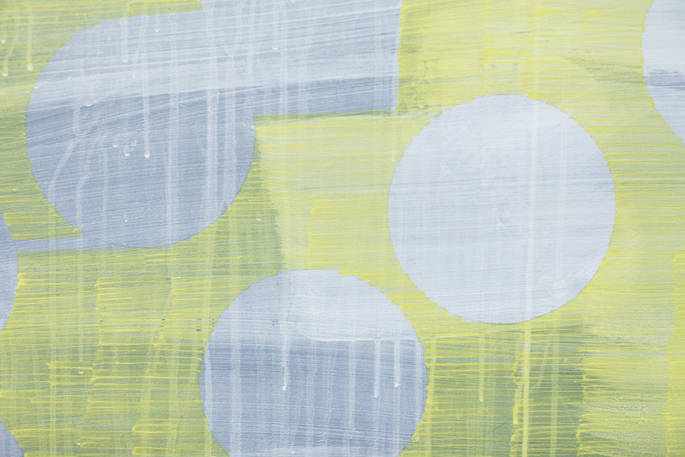detail of Square Painting (Yellow)