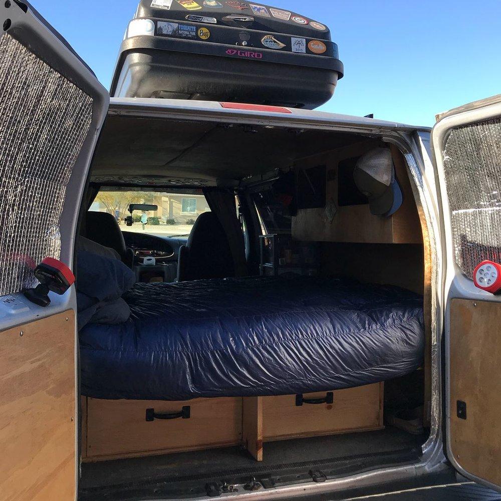 Back of van.