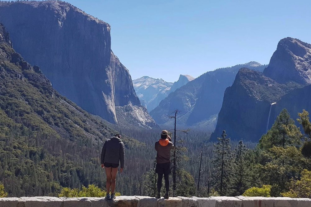 Hikers Stopping For A View