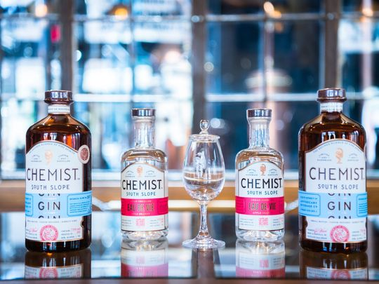 The Chemist's gin brings to the forefront notes of orange, lemon, tangerine and grapefruit.   (Photo: Matt Burkhartt/Citizen Times
