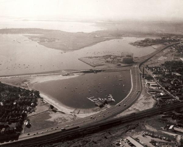aerial shot of basin - 1960's