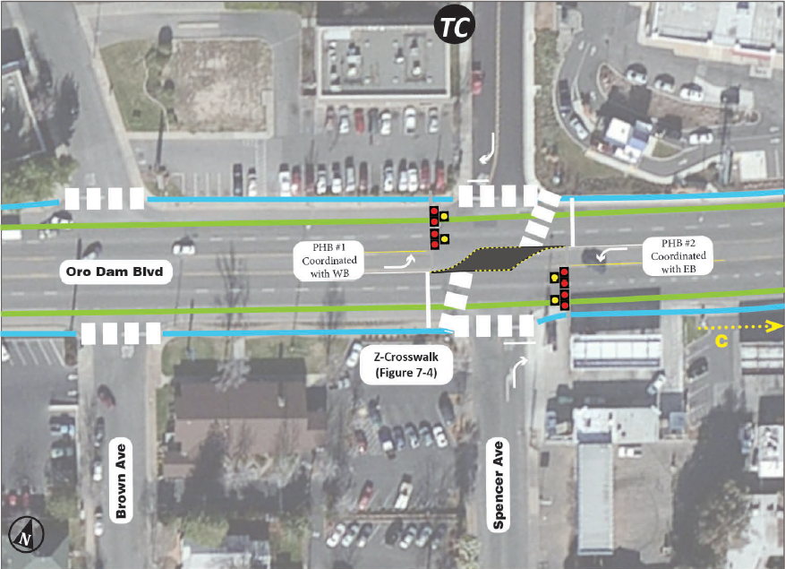 Innovative Coordinated HAWK & Z Crosswalk concept included in the Final Recommendations