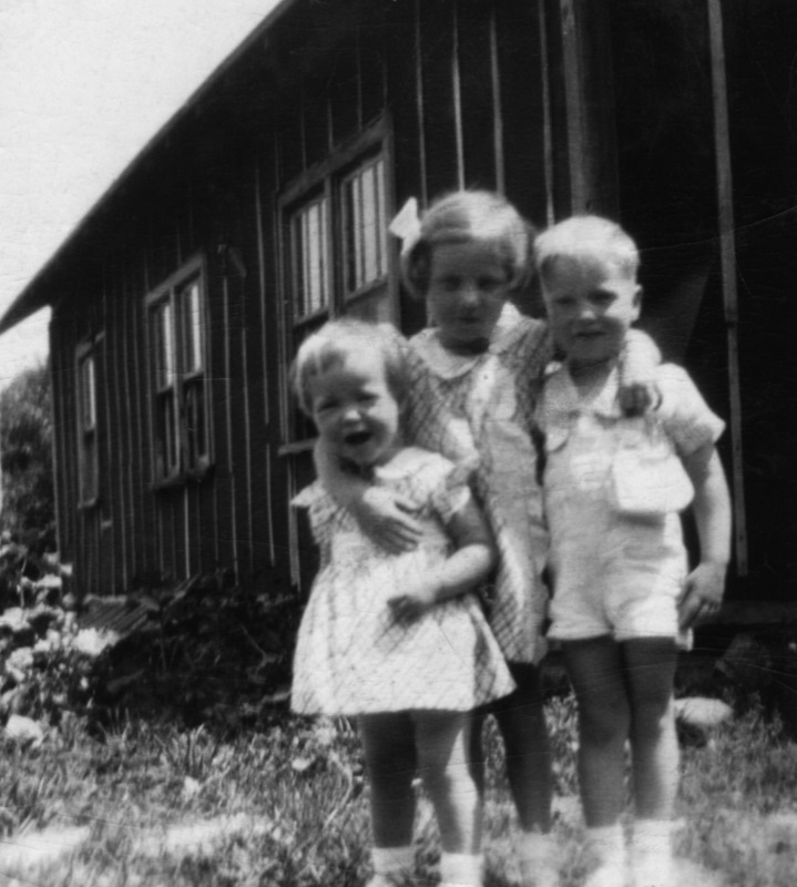 With my sisters Carolyn and Sally at my Grandparents' home in East Jordan, Michigan, 1937.