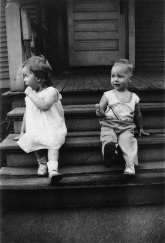 With my sister Sally in 1934.