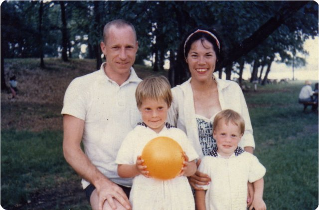 With my wife Pam and my daughters Alison and Merrill, in Michigan in 1962.