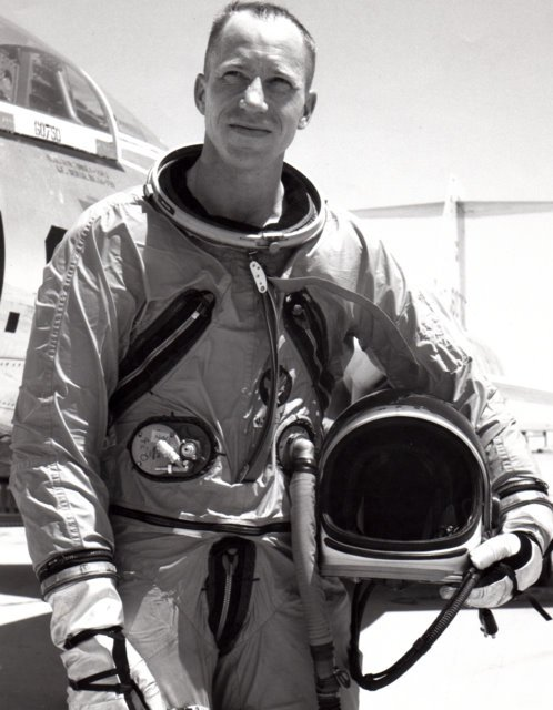 At Edwards Air Force Base, around 1965.